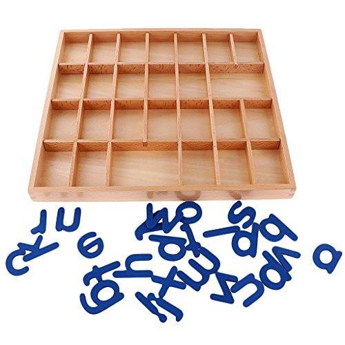 Montessori Alfabetos Movibles Caja Letras Madera Juguete Educativo para Niños