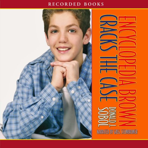 Encyclopedia Brown Cracks the Case audiobook cover art