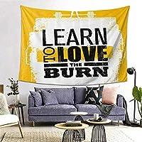GUKISALA タペストリー Fitness Love The Burn Grungy 多機能 毛布 おしゃれな壁掛け インテリア ファブリック装飾用品 モダンなアート 和風 壁掛け クールジャパン 家飾り