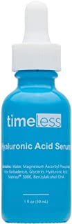 TIMELESS HYALURONIC ACID SERUM + VITAMIN C 1FL OZ. POWERFUL HYDRATING AND ANTIOXIDANT THAT EVENS SKIN TONE AND HELPS BUILD...