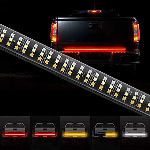 MustWin 60 Inch Tailgate Light Bar Triple Row 504 LEDs Tailgate Strip Light Red Running Brake product image
