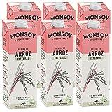 Monsoy - Bebida De Arroz Integral BIO - Caja de 6 x 1L