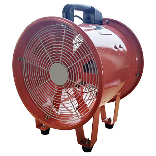 Find Bargain Portable axial flow fan, thickened casing 7 pieces of aluminum leaf convenient wear-resistant high-speed strong wind copper motor energy-saving axial flow fan, underground pipeline, communication,