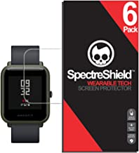 Spectre Shield (6 Pack) Screen Protector for Xiaomi Huami Amazfit Bip Accessory Xiaomi Huami Amazfit Bip Case Friendly Full Coverage Clear Film