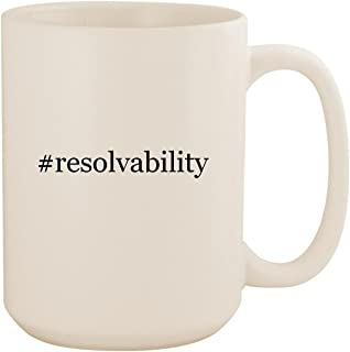 #resolvability - White Hashtag 15oz Ceramic Coffee Mug Cup
