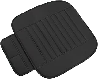 Car Seat Cushion Cover Pad Mat Driver Chair Cover for Auto Supplies Office Chair Universal Anti-Slip High-Grade PU Leather...