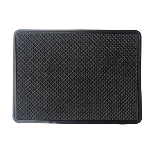 zhibeisai Car Interior Black Silicone Anti-Slip Dashboard Pad Non Slip Mat Phone Coin Sunglass Holder