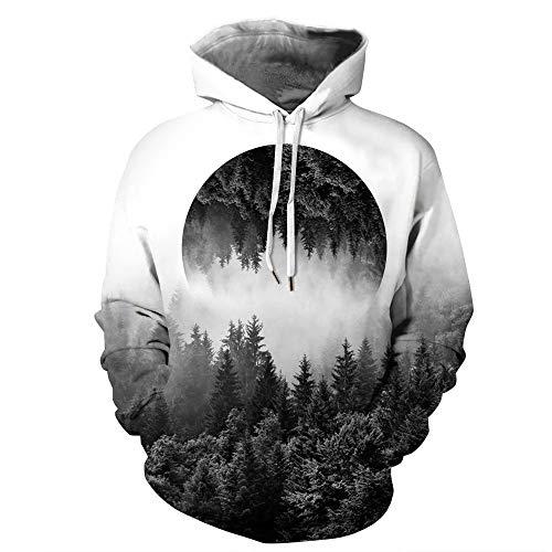 LUOYLYM Neue Langarm-Shirt Jacke 3D Gift Digitaldruck Paar Kapuzenpullover Mode Frauen Herbst und...