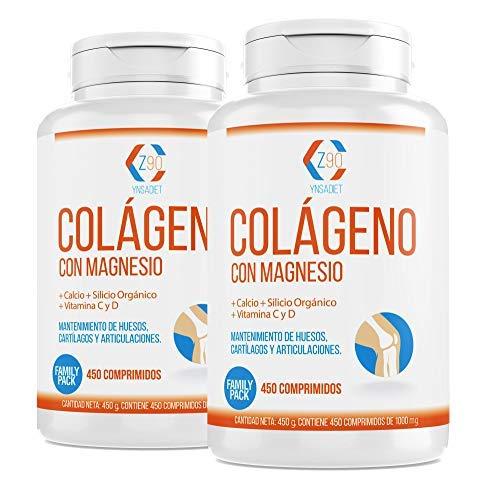 Colágeno hidrolizado con calcio para huesos y articulaciones – Colágeno con vitamina C y vitamina D para ayudar a la energía del día a día - 900 comprimidos