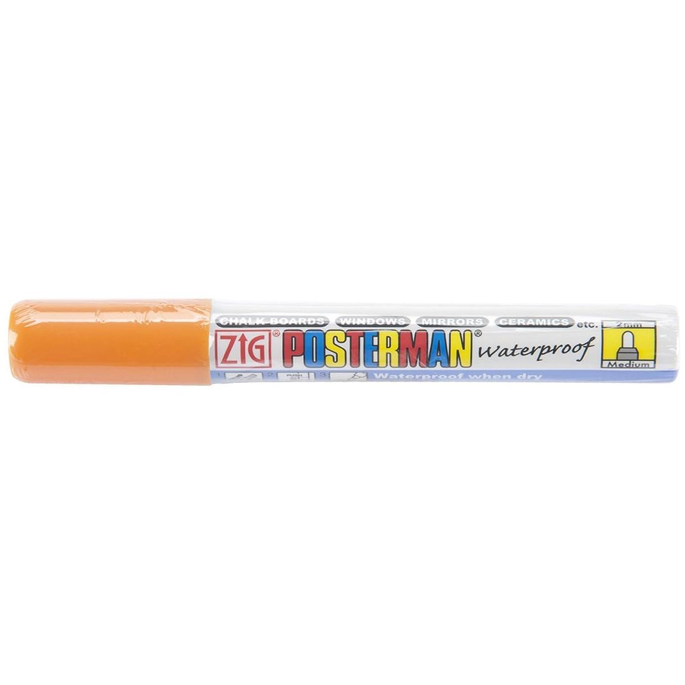 Zig 2mm Posterman Medium Tip Marker, Orange