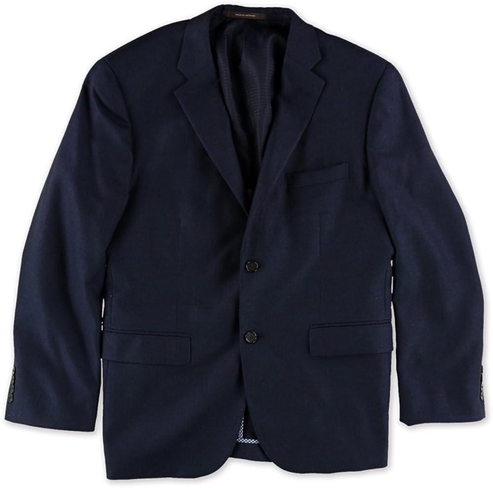 Tasso Elba Mens Long Sleeve Two Button Blazer Jacket