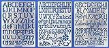 Aleks Melnyk #45 Stencil in Metallo Riutilizzabili per Pittura, 3 pezzi/Stampo Stencil con Alfabeto, Lettere Grandi, Numeri/Stencil da Cartolina, DIY/Template di Pittura Decorativo
