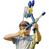 Bow & Arrow - Shoots Over 100 Feet - Foam Bow & Arrow Archery Set - Navy & Gold (Kyanite)