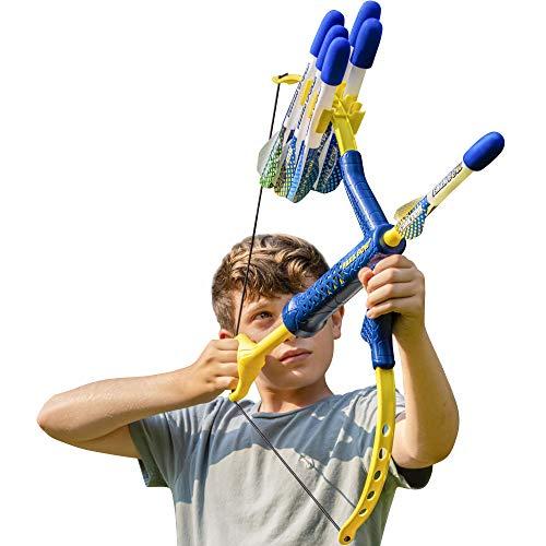 FAUX BOW - Shoots Over 100 Feet - Foam Bow & Arrow Archery Set - Navy & Gold (Kyanite)