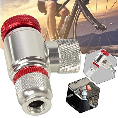 linjunddd Co2 para Inflar Los Neumáticos De Bicicletas, Bicicletas De La Bomba De Neumáticos Presta Y Schrader Válvula Compatible Neumático De La Bici Bomba Cabeza De Aleación De Aluminio