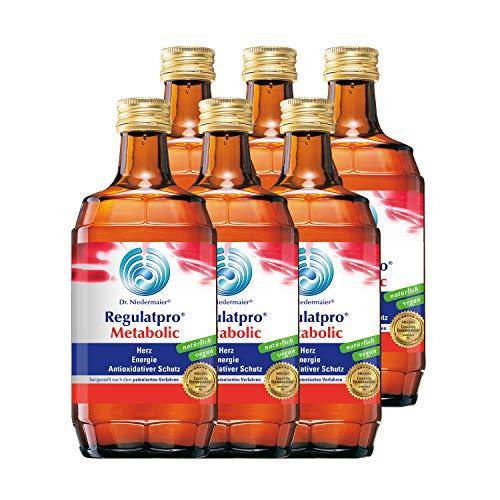 Dr. Niedermaier Regulatpro® Metabolic I für mehr Energie und Leistungssteigerung im Sport** I Anti-Oxidativer Schutz I enthält Magnesium, Mangan, Vitamin B I 6x 350ml (6er Pack)