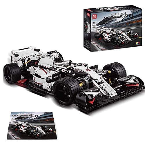 LODIY Coche deportivo Fórmula F1 Racing Car – 1235 bloques de construcción – Kits de vehículos de construcción compatibles con Lego