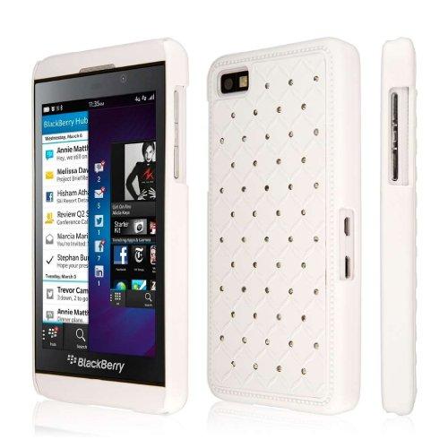 Empire - Custodia Sottile con Dettagli Brillanti, Serie Glitz, per Blackberry Z10, Colore: Bianco
