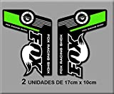 Ecoshirt IQ-DLGC-08SV Pegatinas Fox Racing Shox Bike R192 Stickers Aufkleber Decals Autocollants Adesivi, Negro Verde