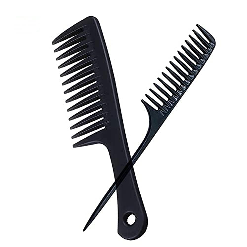 Fresno Mall Large Detangling Comb Black Wide Hair Curly Women for Tooth Ultra-Cheap Deals