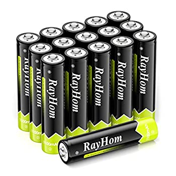 RayHom AAA Rechargeable Batteries 1100mAh Ni-MH Battery  16 Pack