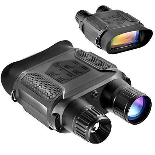 SOLOMARK赤外線望遠鏡ナイトビジョン暗視スコープデジタルカメラ双眼鏡400m/1300ft7倍の倍率640x480pHD日本語説明書付き