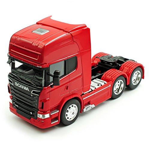Welly Scania R-Serie R730 V8 3 Achsen Rot Ab 2005 Zugfahrzeug LKW Truck 1/32 Modell Auto