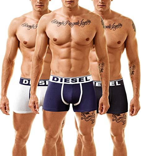 Diesel Boxer de Caballero Damien Single Pack ENDURANCE BIG EYE, azul, XL