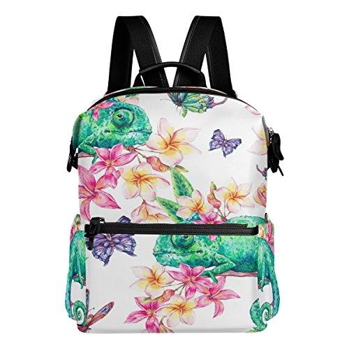 alaza Chameleon Mochila casual de viaje liviana para estudiantes, mochila escolar