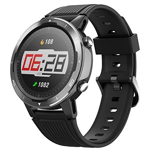 Letsfit Smart Watch, GPS Running Watch with Blood Oxygen Monitor, Fitness Tracker with Heart Rate Monitor, Swimming Tracking Smartwatch with Pedometer, Calorie Counter for Women Men