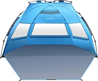 OutdoorMaster Pop Up Beach Tent XL – Easy Setup, Portable 3-4 Person Tall Beach..