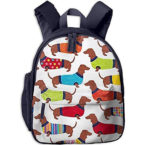 Vivaio Cartella,Zaino Per Bambini,Ragazzi/Ragazze Bookbag,Backpack,Borsa Per Bambini A Spalla Bassotto,Zainetto Da Viaggio Leggero
