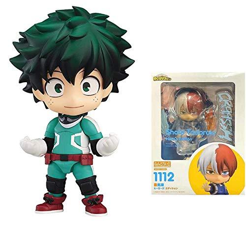 My Hero Academia: Deku Izuku Midoriya Nendoroid Figura de juguete – 10 cm de estatua de anime recuerdo coleccionable decoraciones modelo, artesanías, juguetes de marionetas para regalo