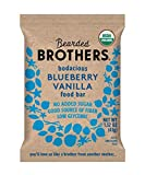 Bearded Brothers Vegan Organic Energy Bar | Gluten Free, Paleo and Whole 30 | Soy Free, Non GMO, Low Glycemic, Packed with Protein, Fiber + Whole Foods | Blueberry Vanilla | 5 Pack