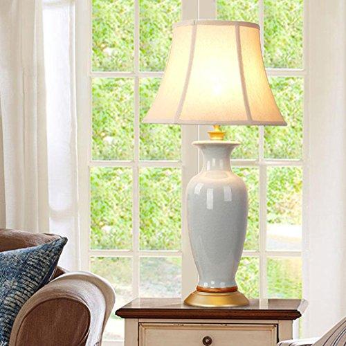 Hgwww Lámparas de mesa de cerámica - Luces de cabecera del dormitorio, Luces interiores lujosas de primera calidad, Luces decorativas de la sala de estar contemporánea (03445) hgwww