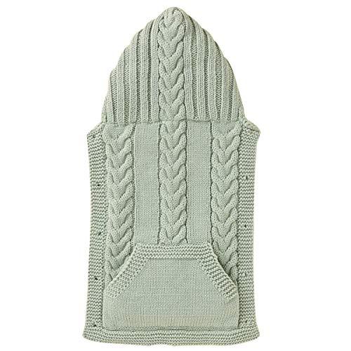 DaMohony Strickumhang für Neugeborene Winddichter Warmer Kapuzenmantel für Kleinkinder im Winter im Freien für 0-1 Jahre Baby