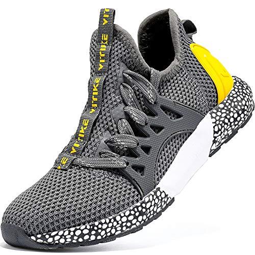 Elaphurus Kinder Sportschuhe Jungen Sneaker Mädchen Hallenschuhe Outdoor Laufschuhe Turnschuhe für Unisex-Kinder, 35 EU, Mysterious Grau