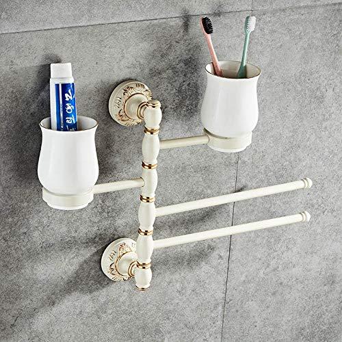 Room Aluminium archaize badkamer handdoekhouder met dubbele kop tanden poetsen mok riem 360 graden draaibaar handdoekhouder Section B