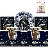 クラシック スターウォーズ パーティー用品パック 16枚分 7インチ プレート 飲み物 ナプキン カップ テーブルカバーセット