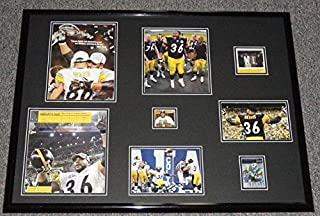 Jerome Bettis Autographed Photo - Framed 18x24 2006 Collage Display Super Bowl - Autographed NFL Photos