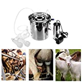 Electric Goat Milking Machine Portable 5L Goat Milker Machine Stainless Steel...
