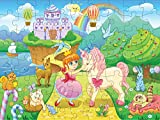 Princess and Unicorn Puzzle - 72 Pieces Jigsaw Puzzle for Kids - Great Gifts for 6 Year Old Girl, 5 Year Old Girl, or 8 Year Old Girl - Fun Toy Puzzles for All Ages