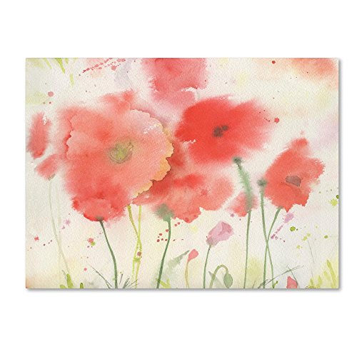 Coral Fiesta by Sheila Golden, 14x19-Inch Canvas Wall Art