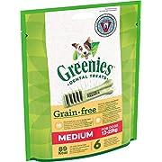 Greenies Original tägliche Zahnpflegesnacks Medium Grainfree, getreidefreie Hundeleckerli zur täglichen Zahnreinigung für mittlere Hunde von 12-22kg, 12 Sticks (2 x 6 Sticks)