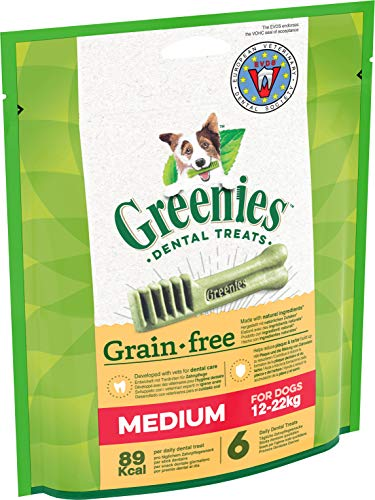 Prime Day Greenies Grain Free - Getreidefreie Zahnpflegesnacks für verschiedene Hundegrößen – Hundeleckerli zur täglichen Zahnreinigung, 2er Pack (2 x 170 g)