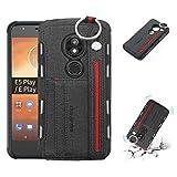 Ebogor pour pour Le boîtier de Jeu Motorola Moto E5, Texture de Tissu + TPU Coque de Protection...