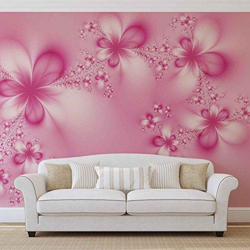 Blumen Abstrakt Natur - Forwall - Fototapete - Tapete - Fotomural - Mural Wandbild - (412WM) - XXL - 312cm x 219cm - VLIES (EasyInstall) - 3 Pieces