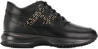 Luxury Fashion   Hogan Women HXW00N0BY00I85B999 Black Leather Sneakers   Autumn-winter 19