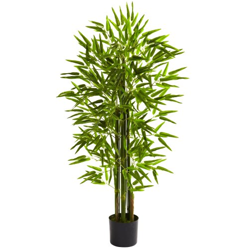Nearly Natural 5384 Bamboo UV Resistant Tree, 4-Feet, Green