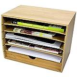 Bambù Cube-Classificatore Portadocumenti con Cassetto Organizzatore da Scrivania per Documenti in Formato A4